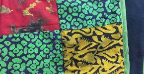Maßangefertigter Bettbezug mit mehrfarbigem Baumwollstoff