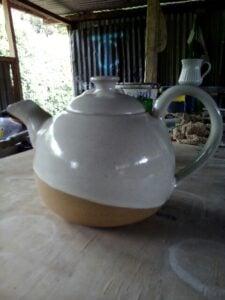 Tea pot made by John Kamau
