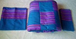 Maßgefertigte Tagesdecke mit passenden Kissenbezügen