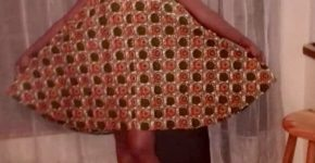Custom made maxi skirt and an A-line knee lenth dress
