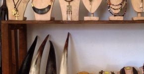 Jewellery made from Recycled cow-horn