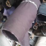 7 kleine Kordelzugtaschen aus Baumwolle waehrend der Verhandlung