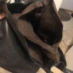 Custom made black leather handbag photos from customer