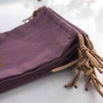 7 kleine Kordelzugtaschen aus Baumwolle