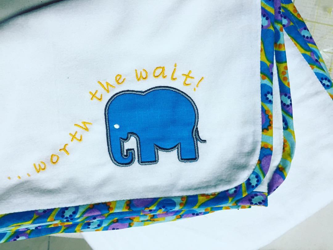 Appliqued flannel sheet with Kitenge border