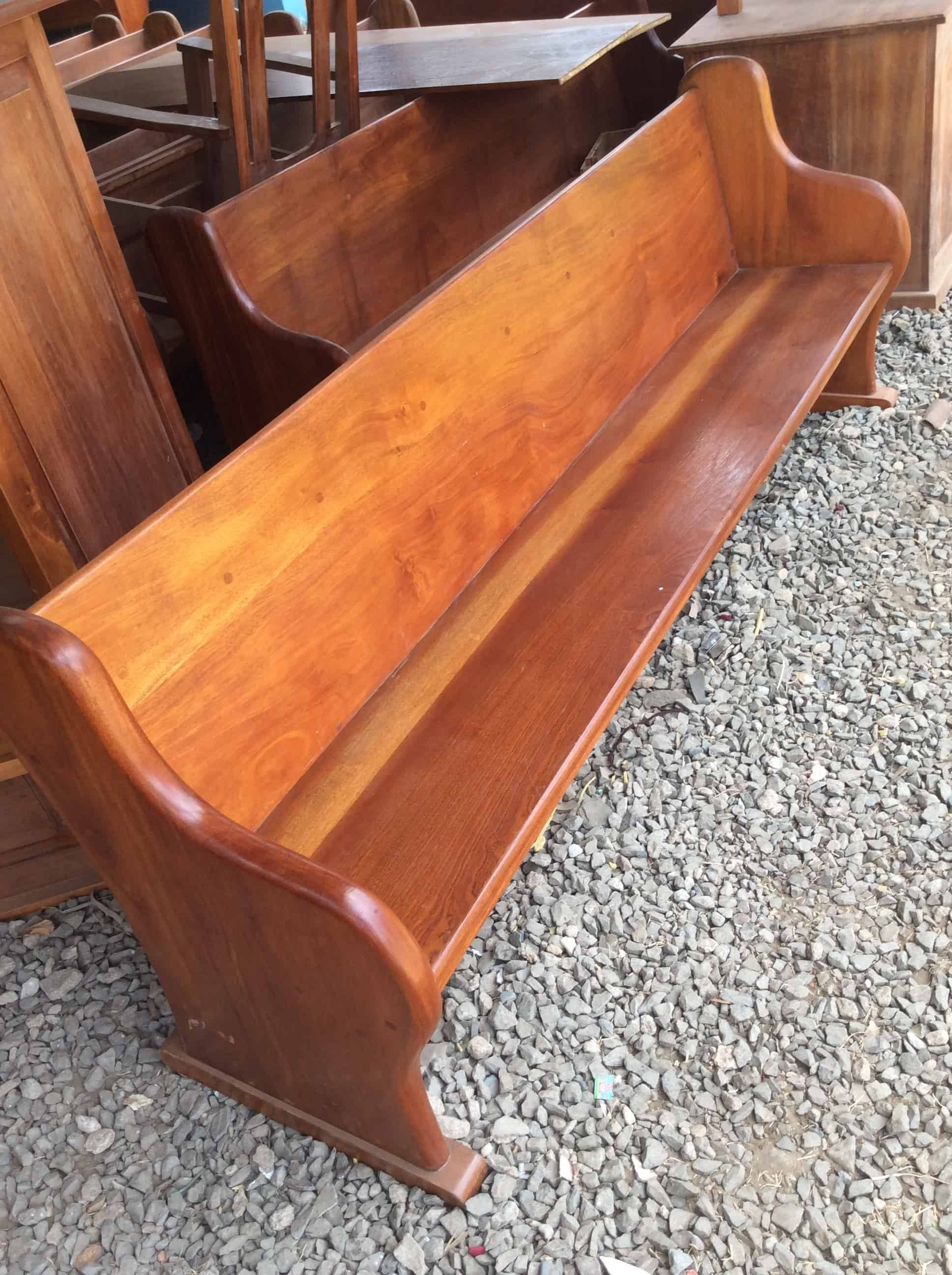 MAHOGANY CHURCH PEWS WITH QUALITY FINISH ON TIME AND WITH QUALITY