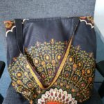 Custom made large handbag into which a 17 inch laptop fits. photos from customer