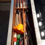 Maßgefertiger Schubladeneinsatz mit integriertem Messerblock Fotos vom Kunden