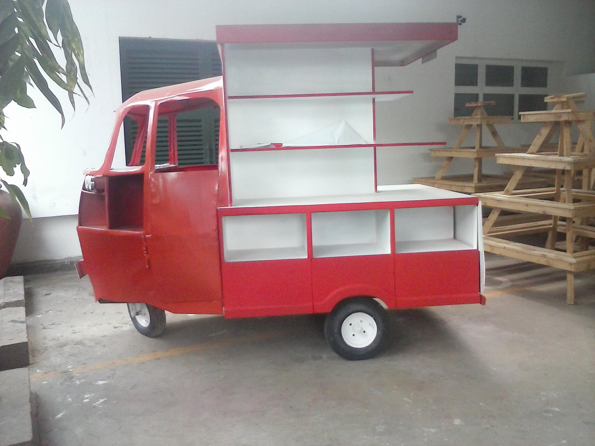 Tuktuk Aufbau für Ausstellungszwecke