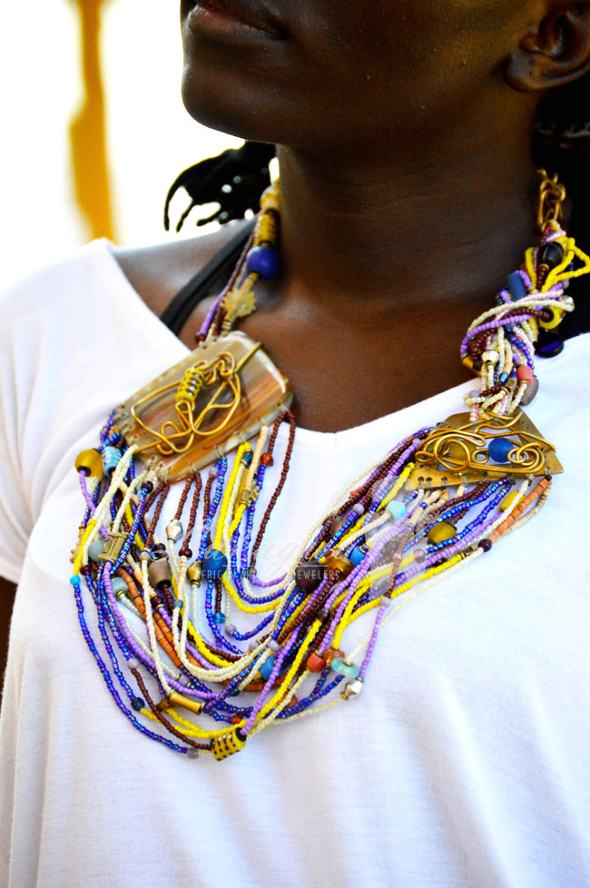 Statement Masai Beaded Necklace