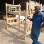 Custom made cypress bunker bed