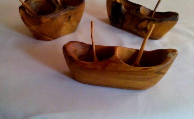 Wooden sugar bowls