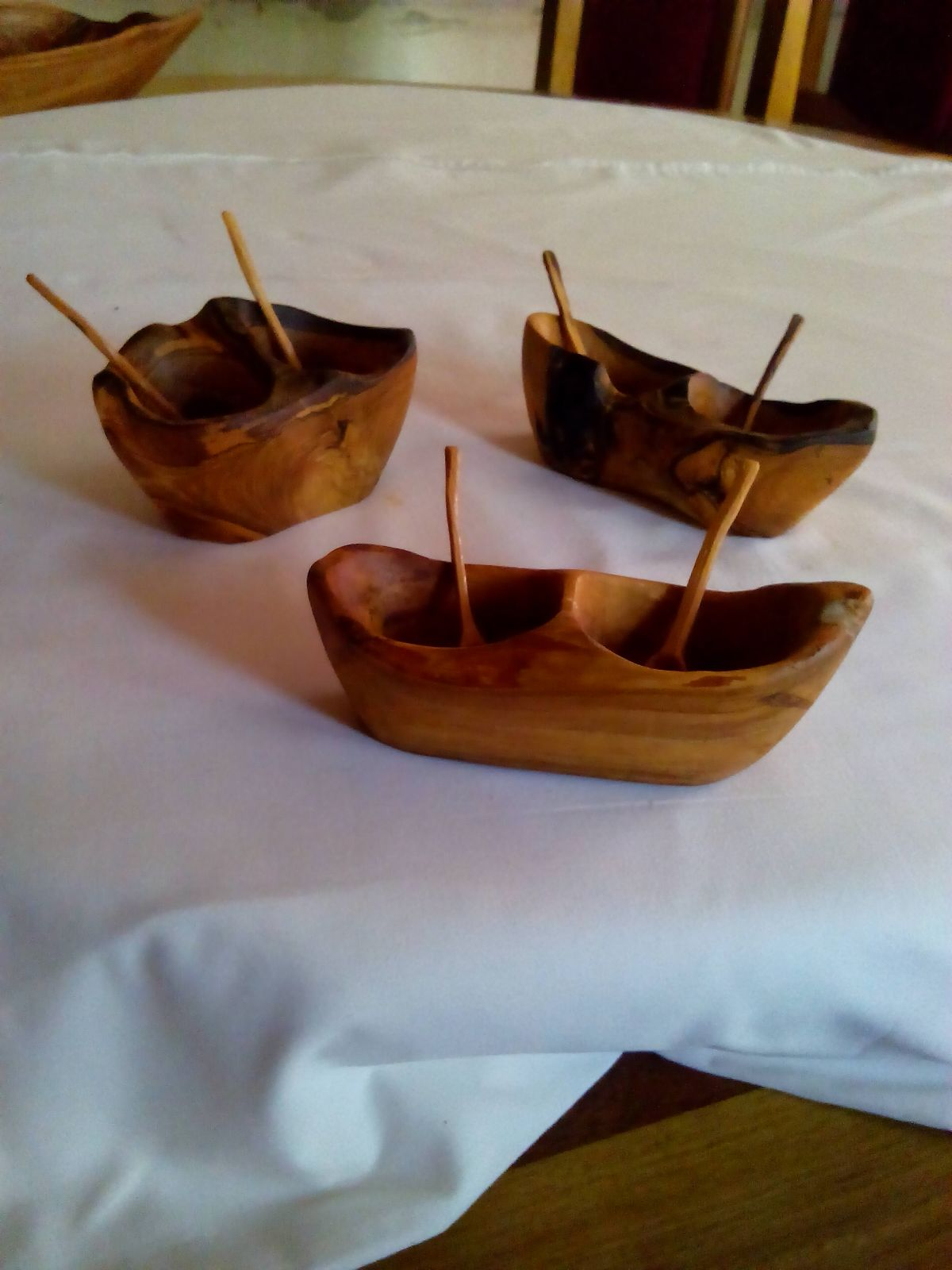 the item is a carved out sugar bowl 6 inches long and 4 inches wide with wooden spoons 45inches long i can also make the item to your specification
