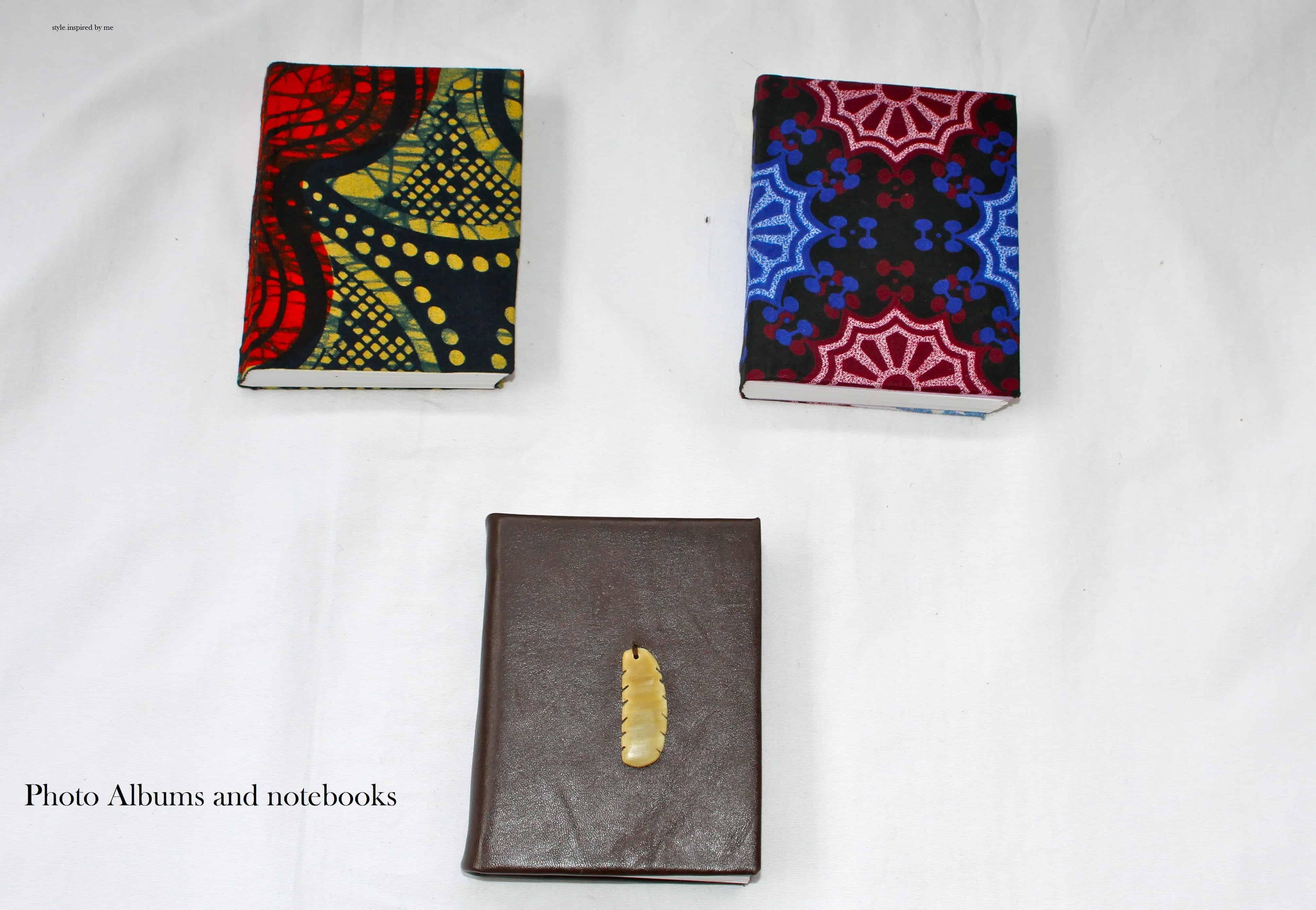 A6 und A5 Bücher mit Kitenge Stoff bezogen