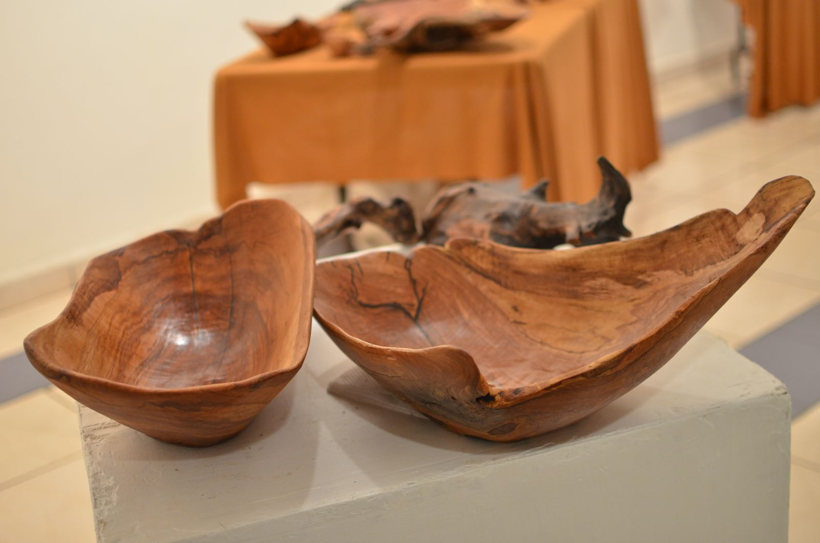 The bowls are carved out of sustainably harvested indigenous trees The bowl is 12 inches in length and 8 inches in diameter I can make to your specification