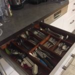 Custom made wooden drawer insert for cutlery photos from customer