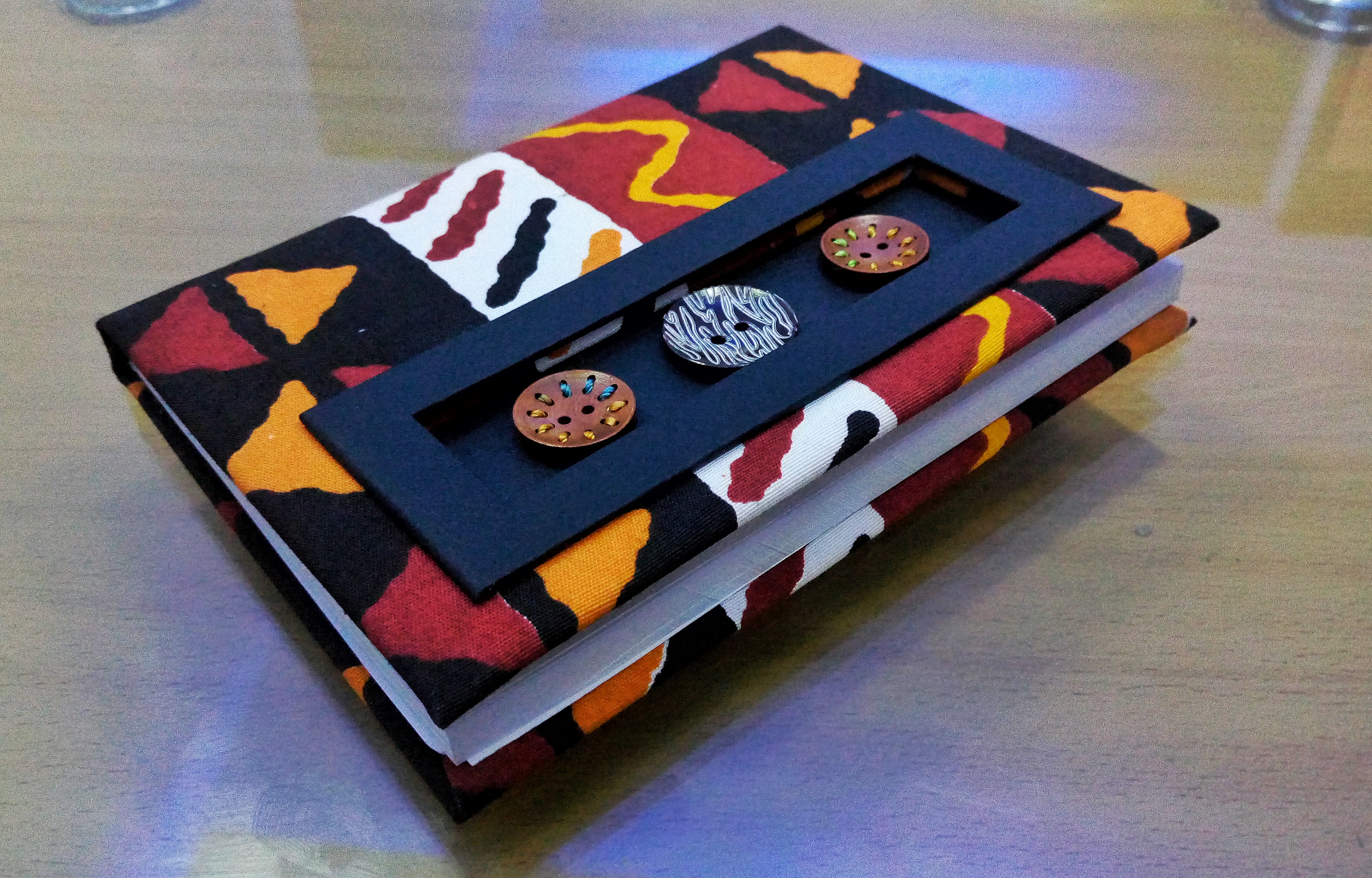 Handmade journal A5 size 21516020mm weight 02KGS material fabric which varies depending on clients needs