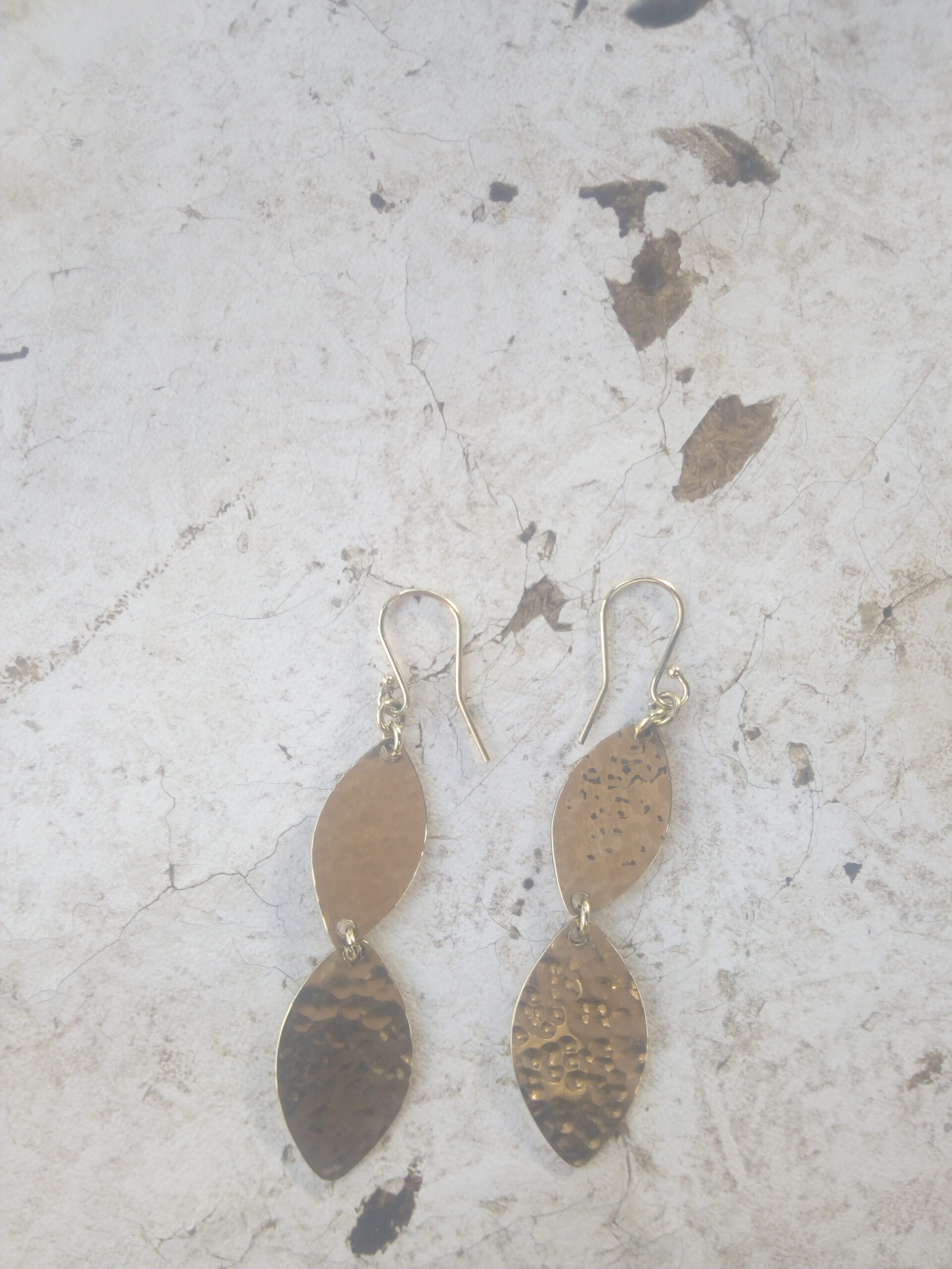 Earing made of brass sheet