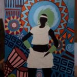 Painted picture with African motifs - commissioned work within custom made realization