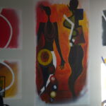 Abstraktes Wandbild