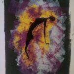 Tintendruck auf Aquarellpapier