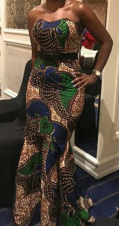 Afrikanische Abendgarderobe