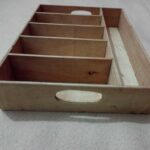Custom made wooden cutlery tray