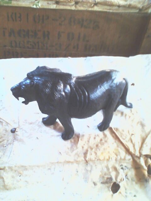 Lion made from wood