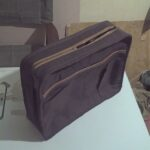 Custom made laptop bag made of real leather within custom made realization