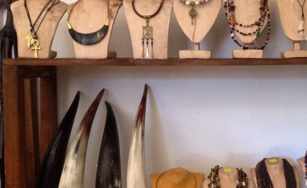 Jewelry made from recycled cow-horn