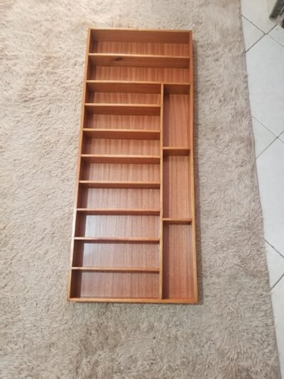 Wooden drawer insert, external dimensions 91cm x 37cm within custom made realization