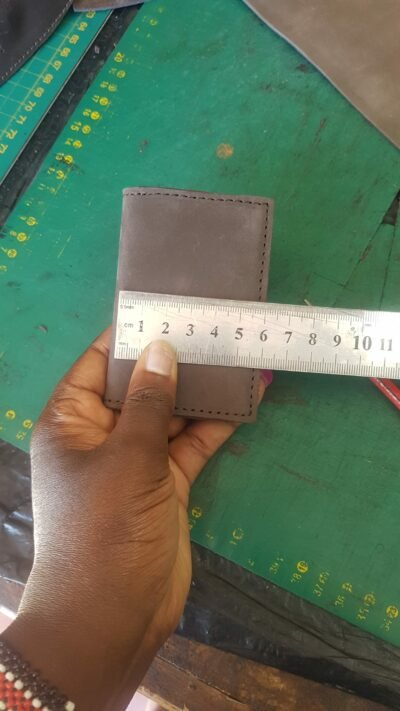 wallet, with only two compartments within custom made realization