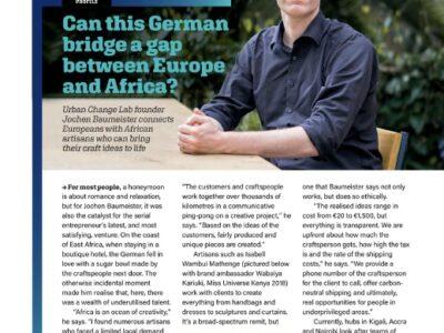Jochen Baumeister in Brussels Airline Magazine