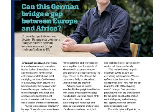 Jochen Baumeister in Brussels Airline Magazine