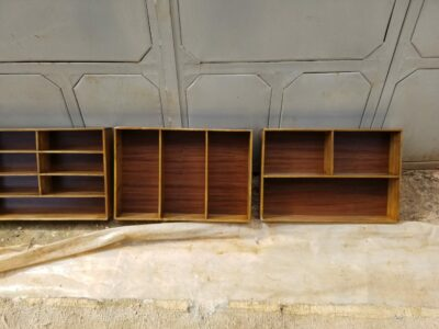 4 cutlery inserts in whitewashed oak within custom made realization