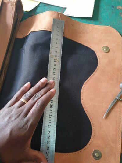custom made leather laptop sleeve within custom made realization