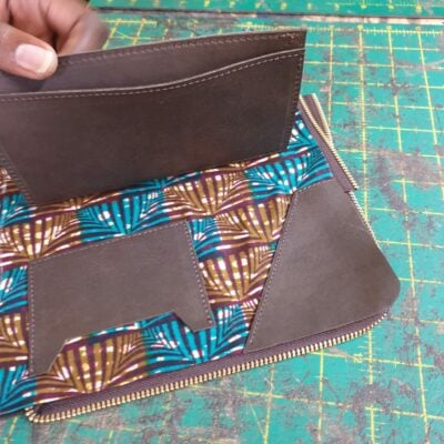 Custom made wallet within custom made realization