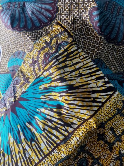 Two custom made favourite wax print dresses within custom made realization