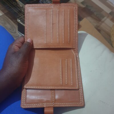 custom made wallet with the outer dimensions H200mmX B125mm within custom made realization