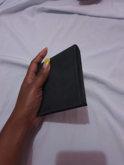 custom made very small black leather wallet - 9x6.5 cm within custom made realization