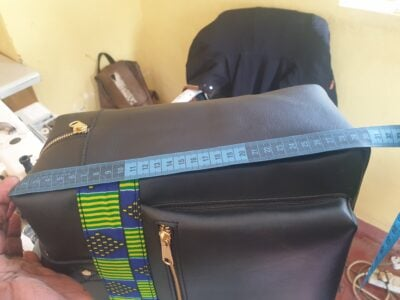 custom made laptop bag in landscape format within custom made realization
