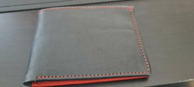 Custom made black and red wallet photos from customer
