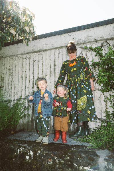 Matching outfits for mom and kids