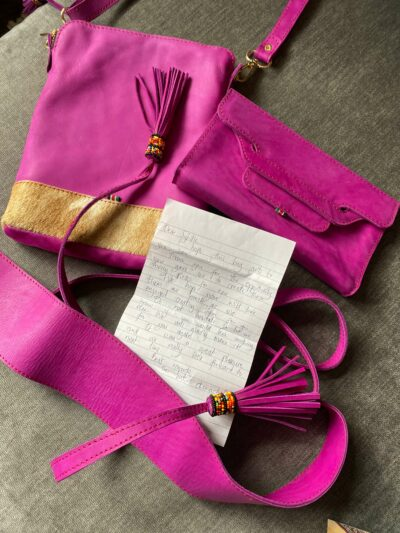 custom made unisex leather bag photos from customer