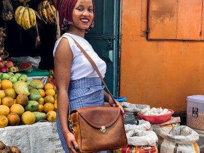 Custom made theft-proof ladies handbag