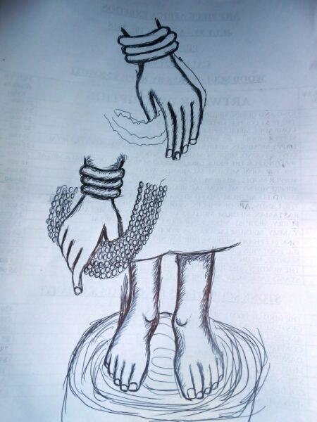 BUDDHA HANDS LEG STUDY