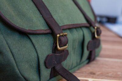 custom made feminin field bag made from fabric