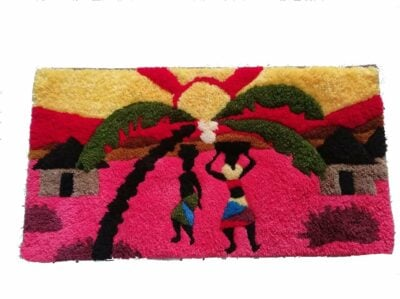 Tapestry wall hanging approx 90cms high by 60 cms wide
