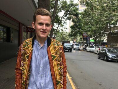 African print bomber jacket