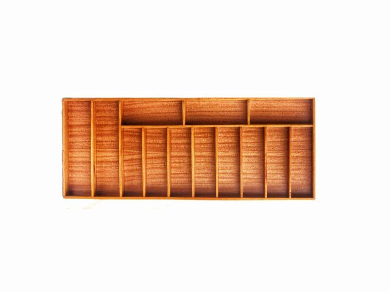 Schubladeneinlage aus Holz, Aussenmass 91cm x 37cm